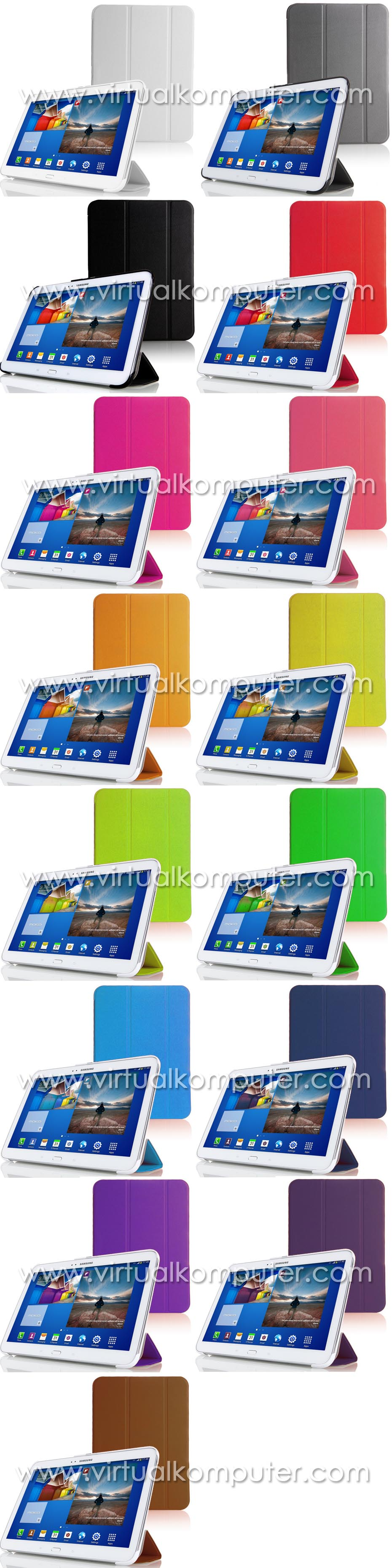Smart Case (Leather) for Samsung Galaxy Tab3 10.1 P5200 Overview