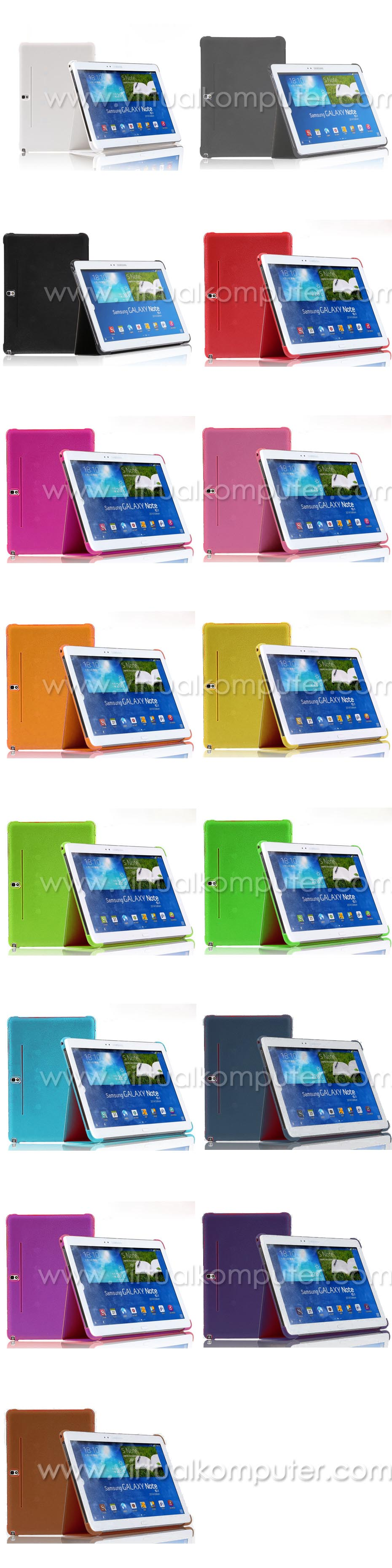 Book Cover Case Stand for Samsung Galaxy Note 10.1 2014 P601 Overview