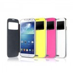 Keva Power Case Flip Cover S-View 2400mAh For Samsung Galaxy S4 I9500