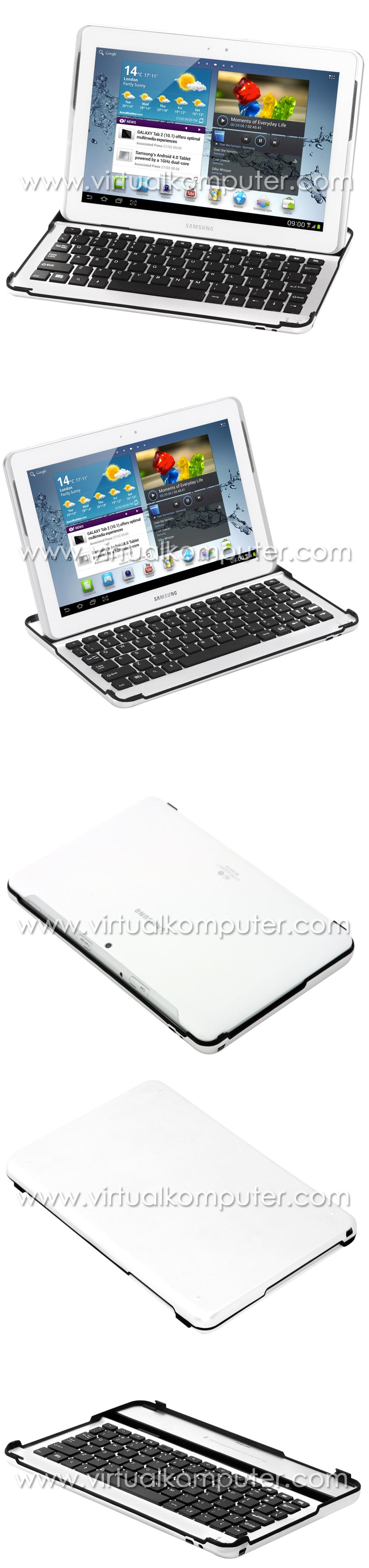 Ultra Slim Keyboard for Samsung Galaxy Tab 10.1 P5100 P7500 Overview