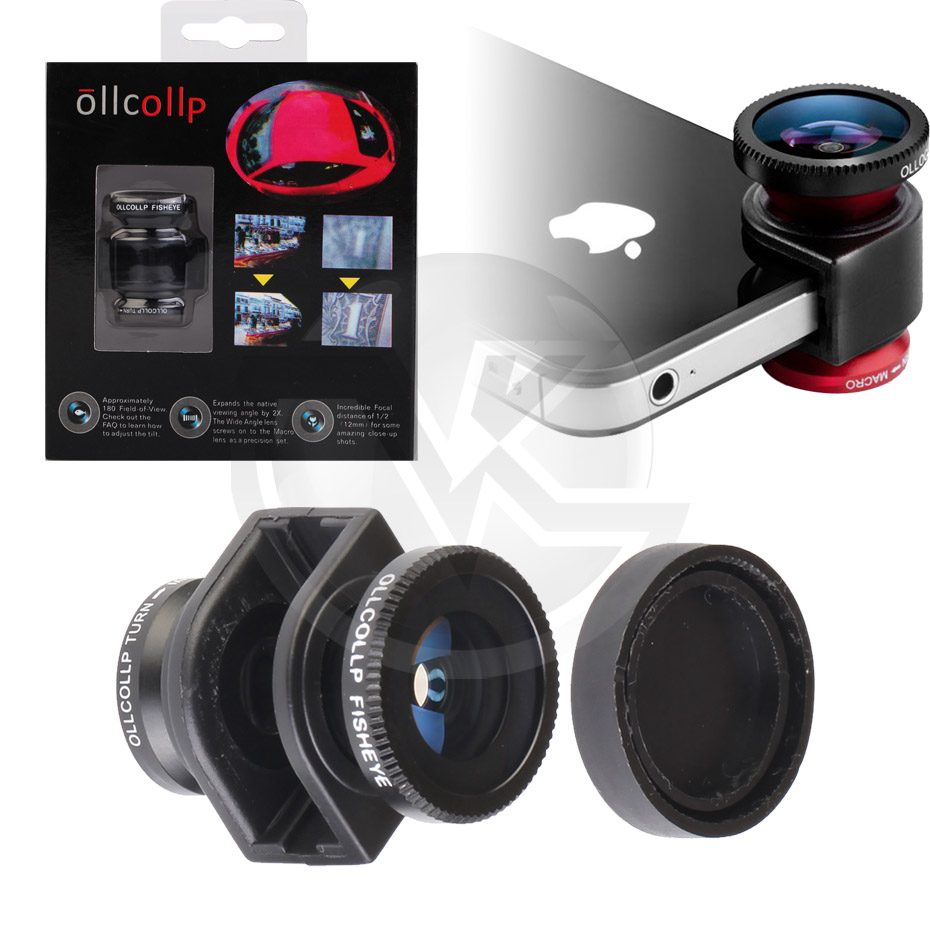 Ollcolp Lensa Handphone Fisheye for iPhone 4,4S Overview