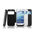 Power Case Flip Cover S-View 3000mAh For Samsung S4 MiniI 9190