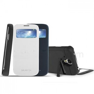 Power Case Flip Cover S-View 4500mAh For Samsung S4 I9500