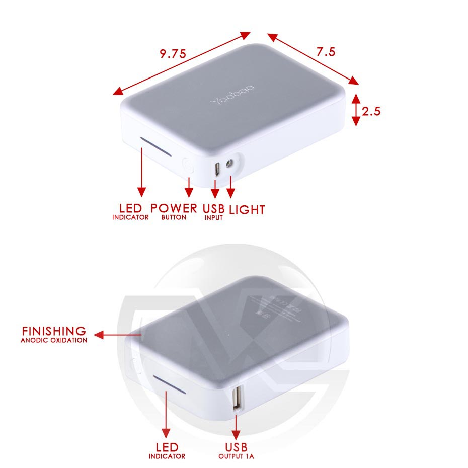 Powerbank Yoobao 10400mAh Magic Cube II YB-649 Overview