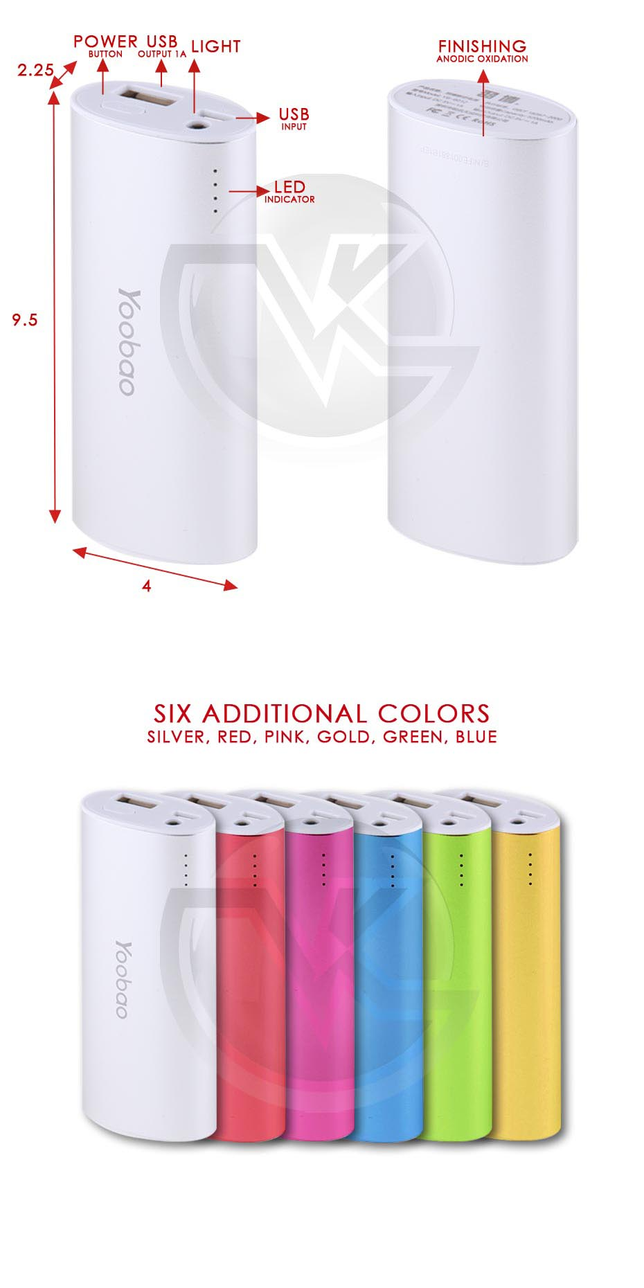 Powerbank Yoobao 5200mAh Magic Wand YB-6012 Overview
