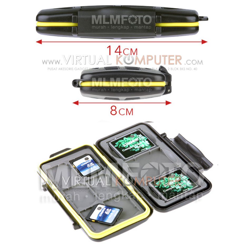 Memory Card Case SD 6 CF 3 Overview