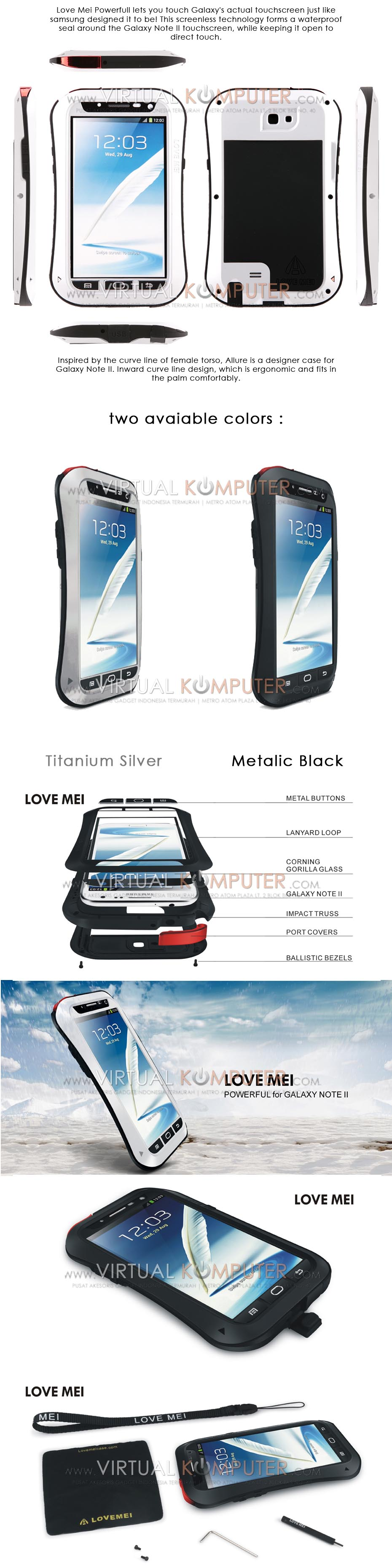 Love Mei Powerful Small Waist Upgrade Version For Samsung Note2 N7100 Overview