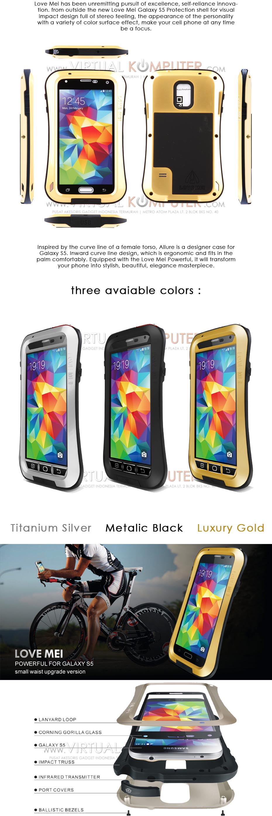 Love Mei Powerful Small Waist Upgrade Version for Samsung S5 SM-G900 Overview