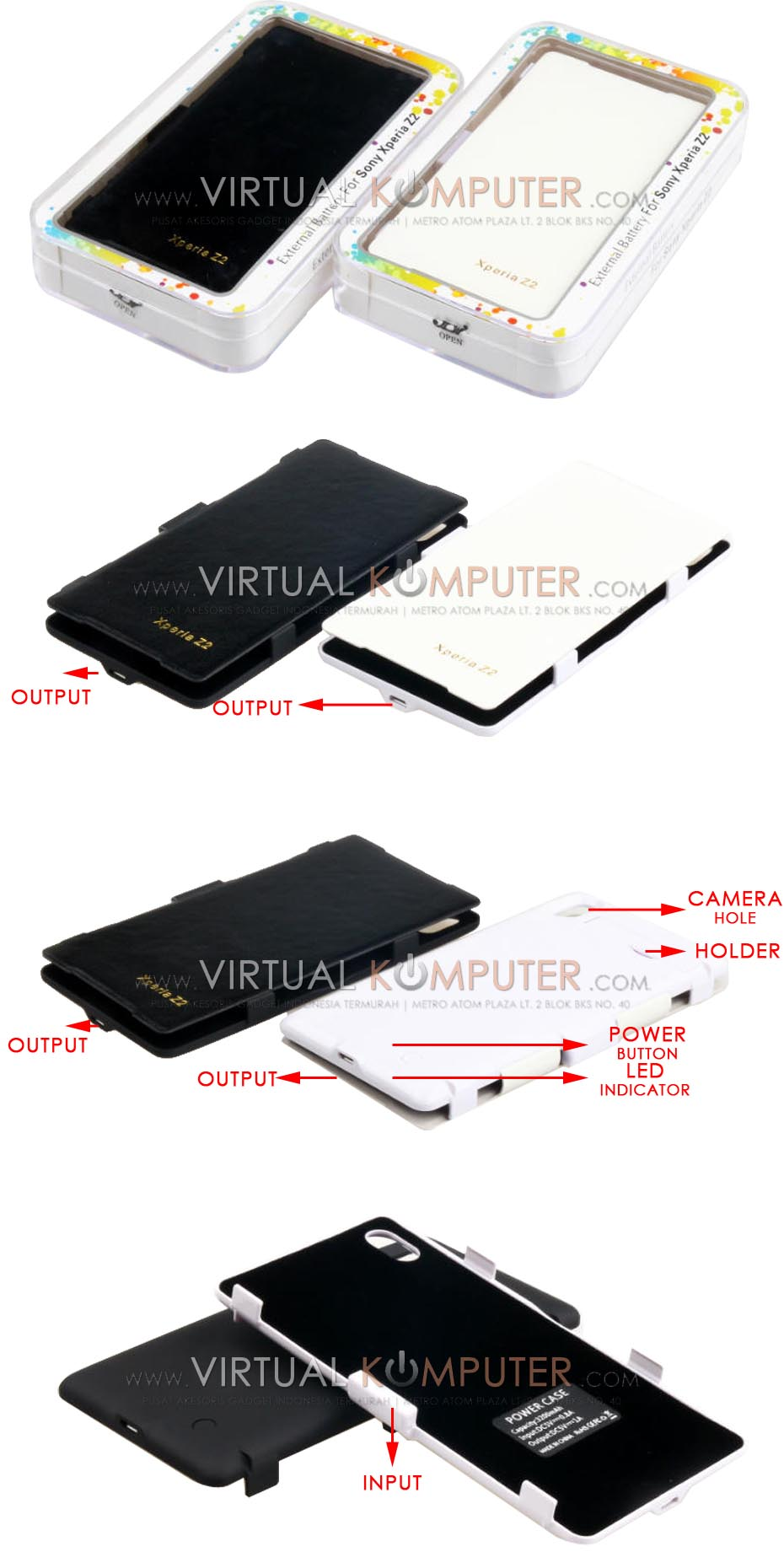 Power Case Flip Cover 4500mAh For Sony Xperia Z2 Overview