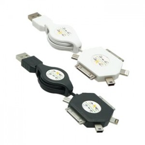 5 in 1 Retractable USB Cable
