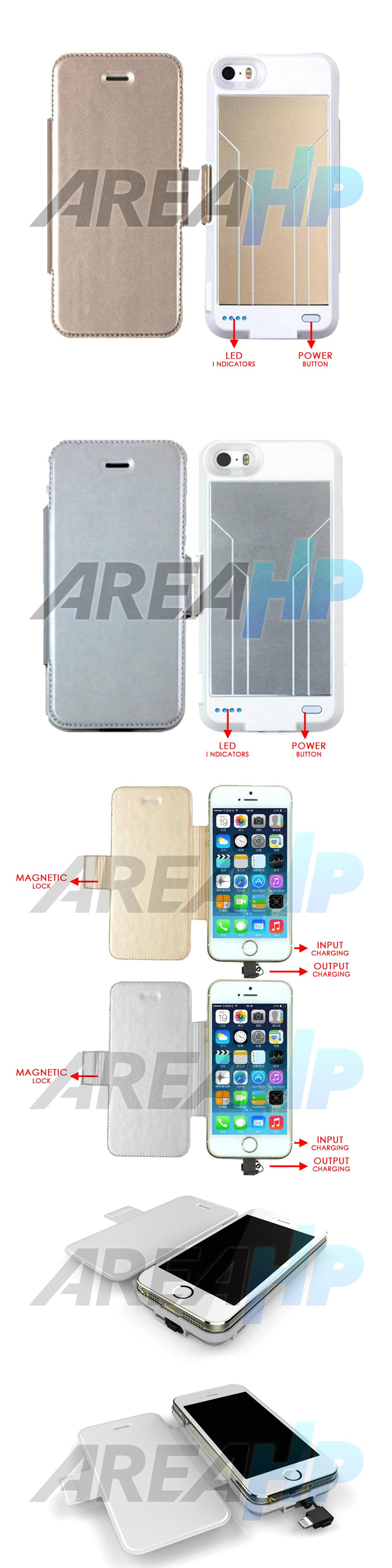 Keva Power Case Flip Cover 3000mAh For iPhone 5, 5S Overview