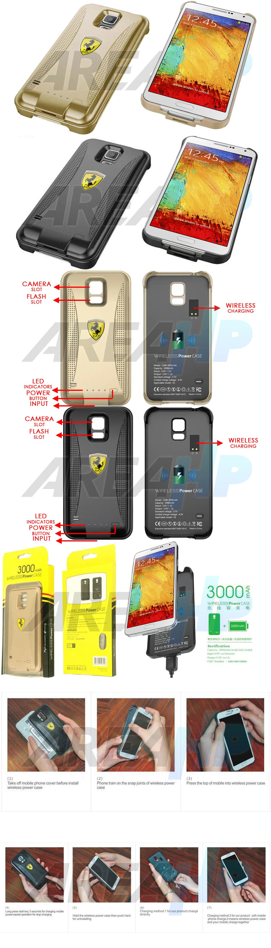 Keva Power Case Wireless 3000mAh For Samsung Galaxy Note3 N9000 Overview