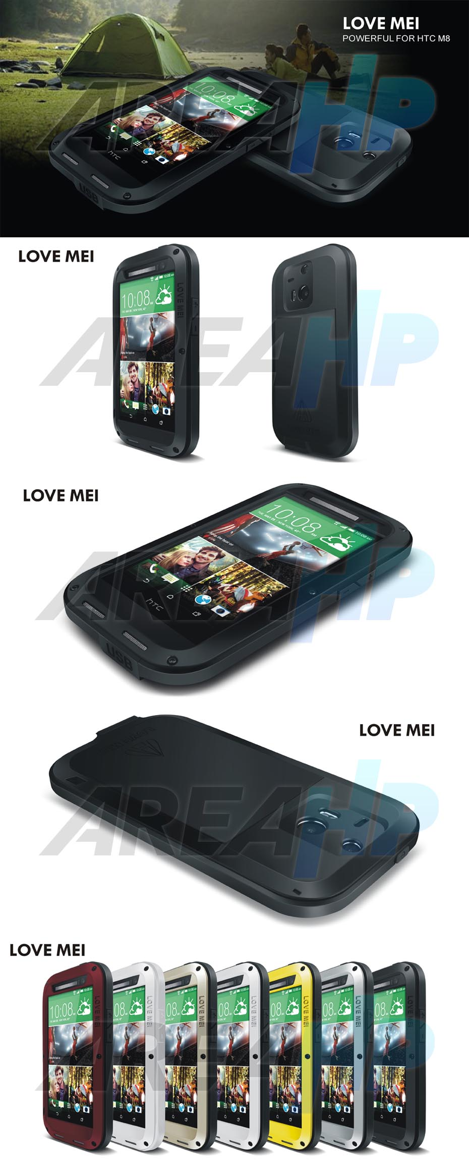 Love Mei Powerful Case for HTC One M8 Overview