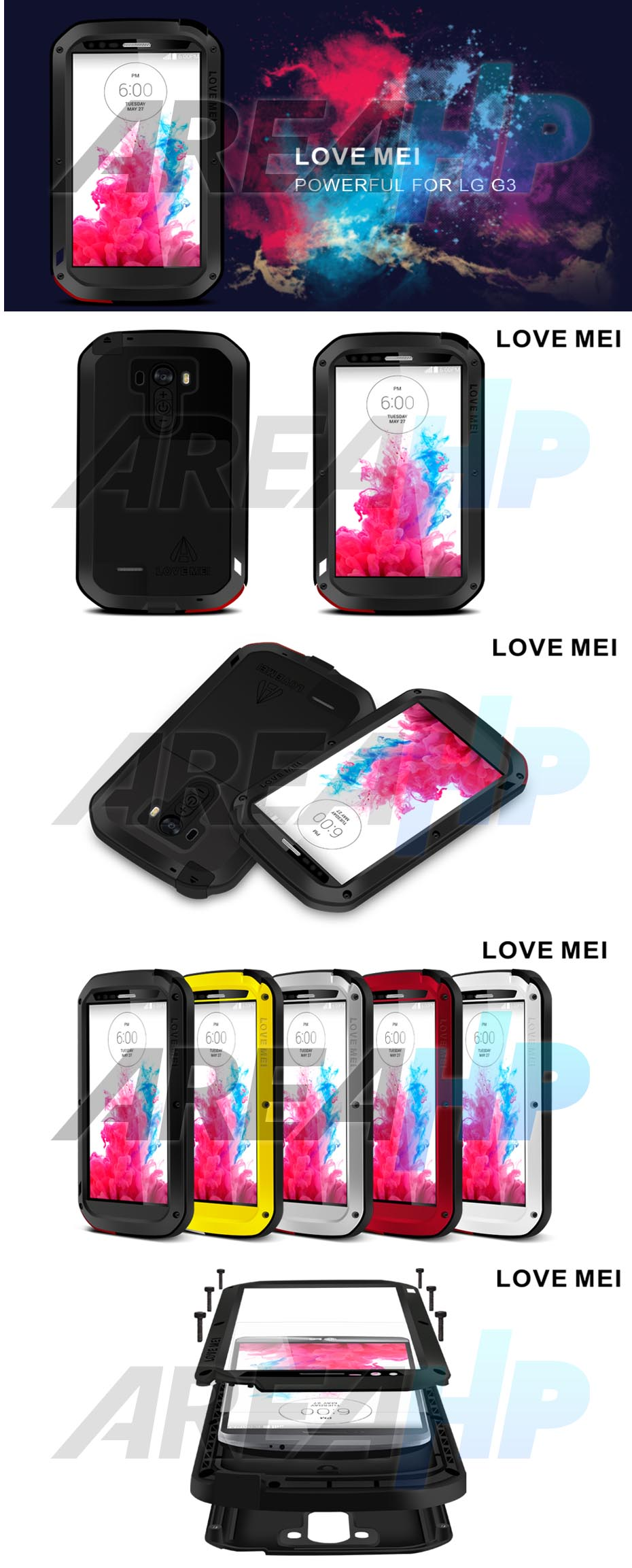 Love Mei Powerful Case for LG G3 Overview