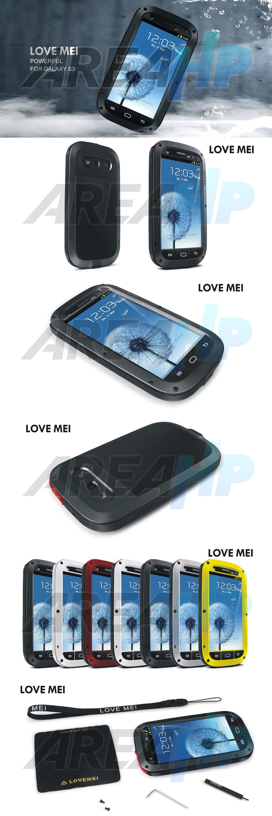 Love Mei Powerful Case for Samsung S3 I9300 Overview