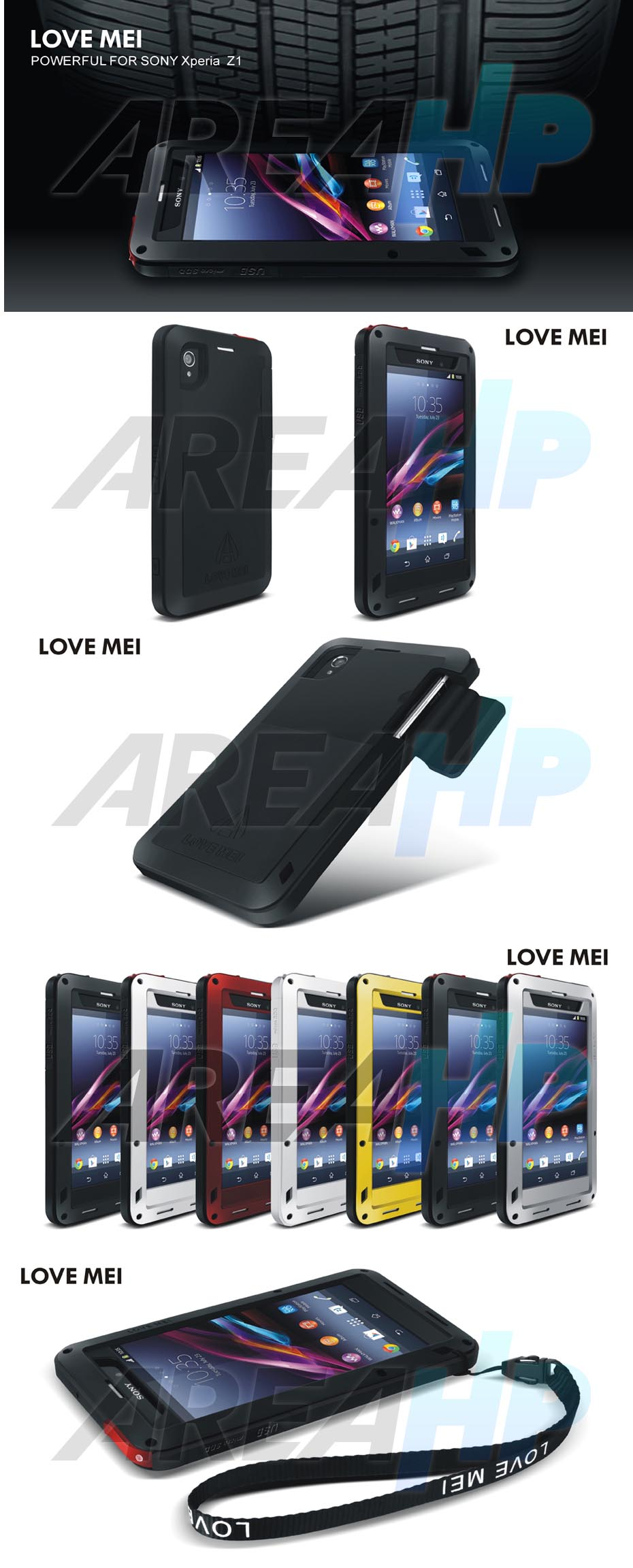 Love Mei Powerful Case for Sony Z1 Overview