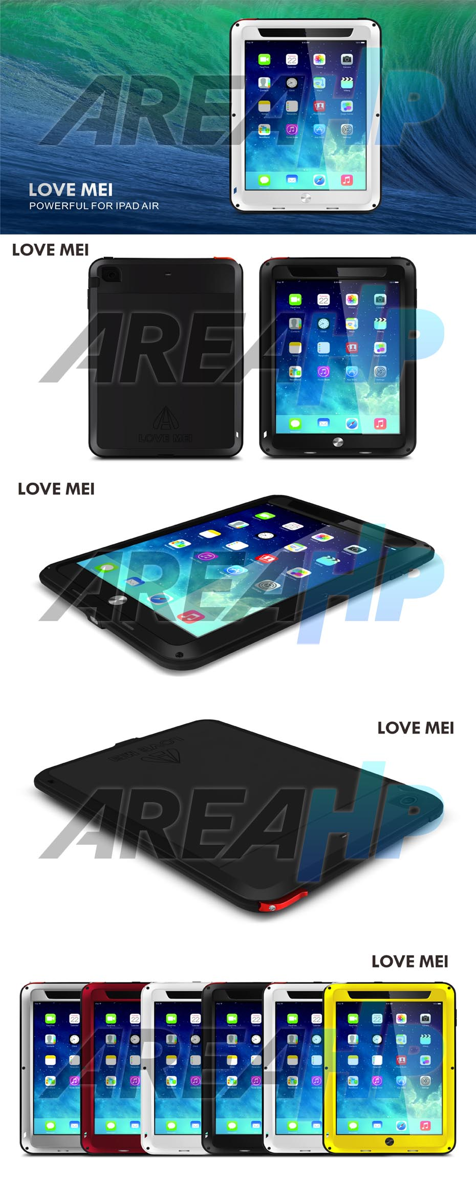 Love Mei Powerful Case for iPad Air Overview