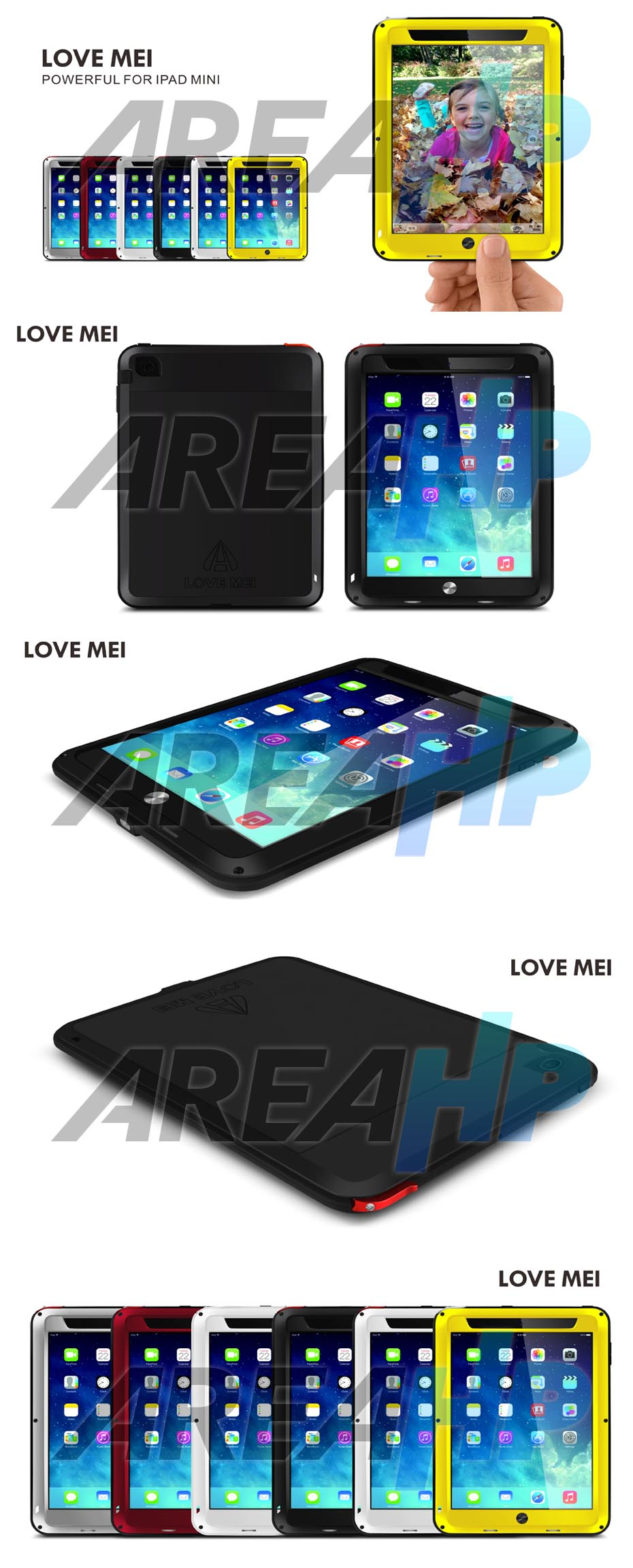 Love Mei Powerful Case for iPad Mini 1, 2, 3 Overview