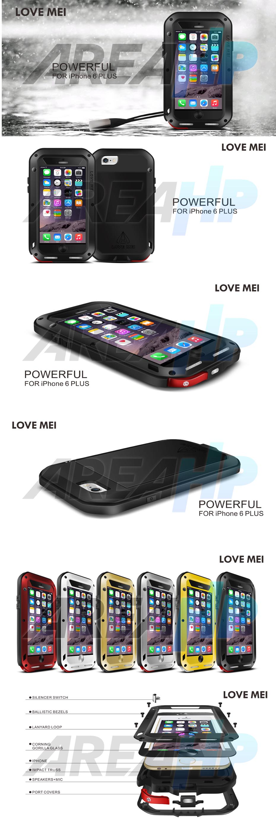 Love Mei Powerful Case for iPhone 6 plus Overview