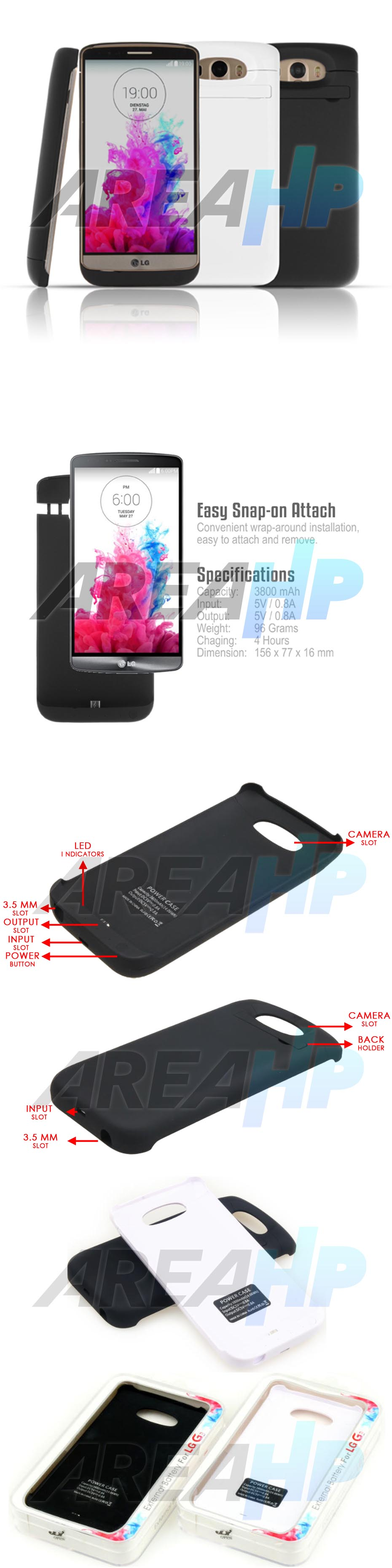 Power Case 3800mAh For LG G3 Overview