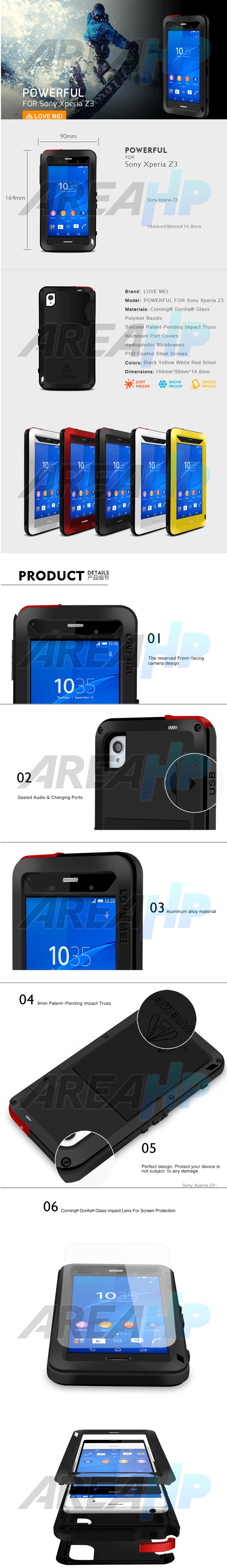 Love Mei Powerful Case for Sony Z3 Overview