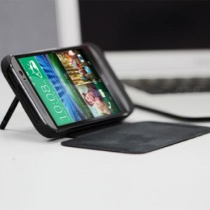 Power Case Flip Cover 4500mAh For HTC ONE M8