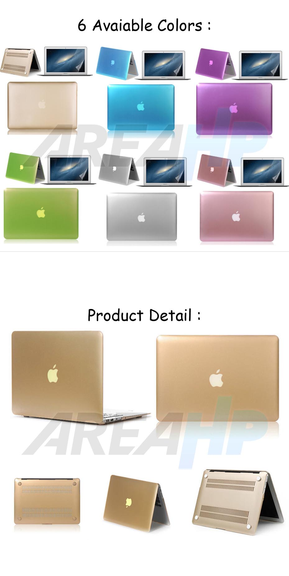 Hard Plastic Metal Case for Macbook Overview