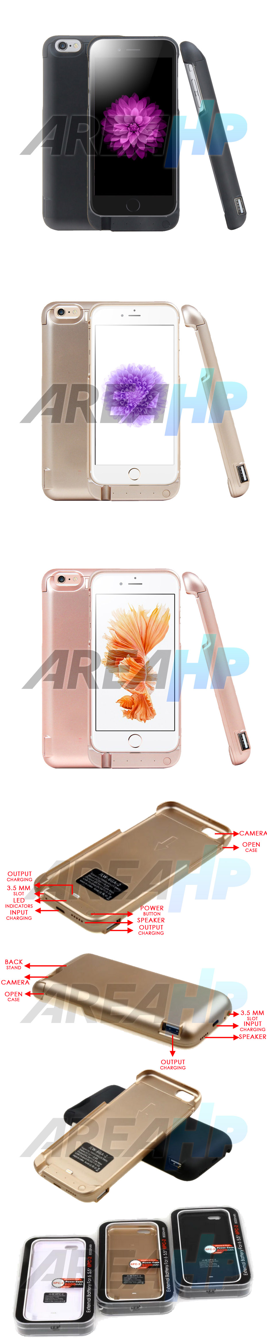 Power Case 8000mAh For iPhone 6 Plus, 6S Plus + Overview