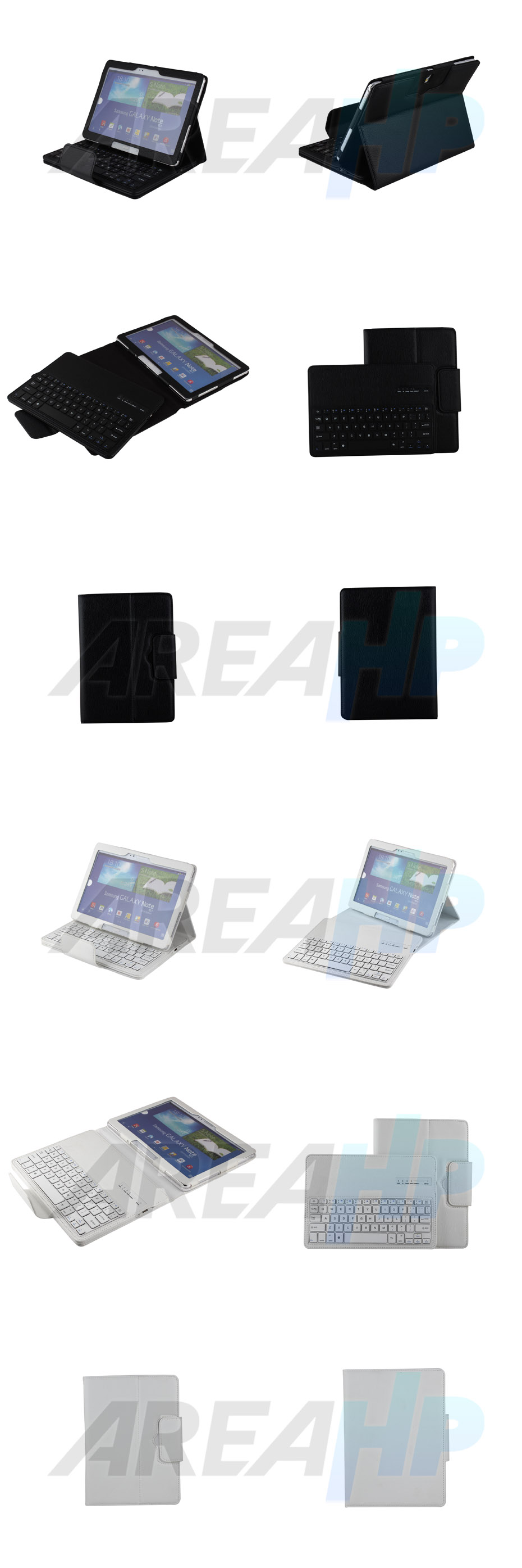 Removable Keyboard Leather Case for Samsung Galaxy Note 10.1 2014 P601 Overview