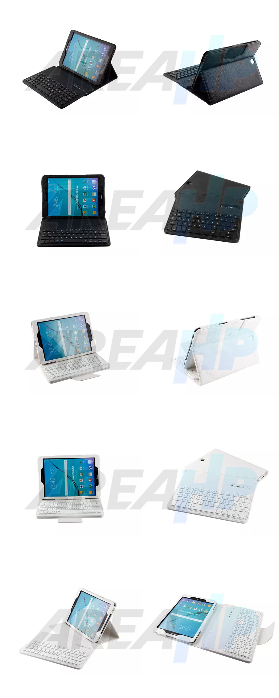 Removable Keyboard Leather Case for Samsung Galaxy Tab S 2 9.7 Overview