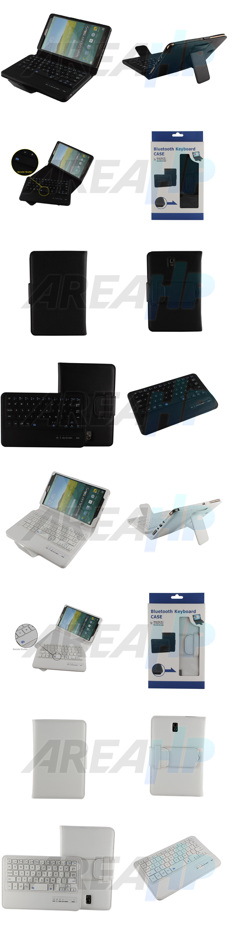 Removable Keyboard Leather Case for Samsung Galaxy Tab S 8.4 Overview