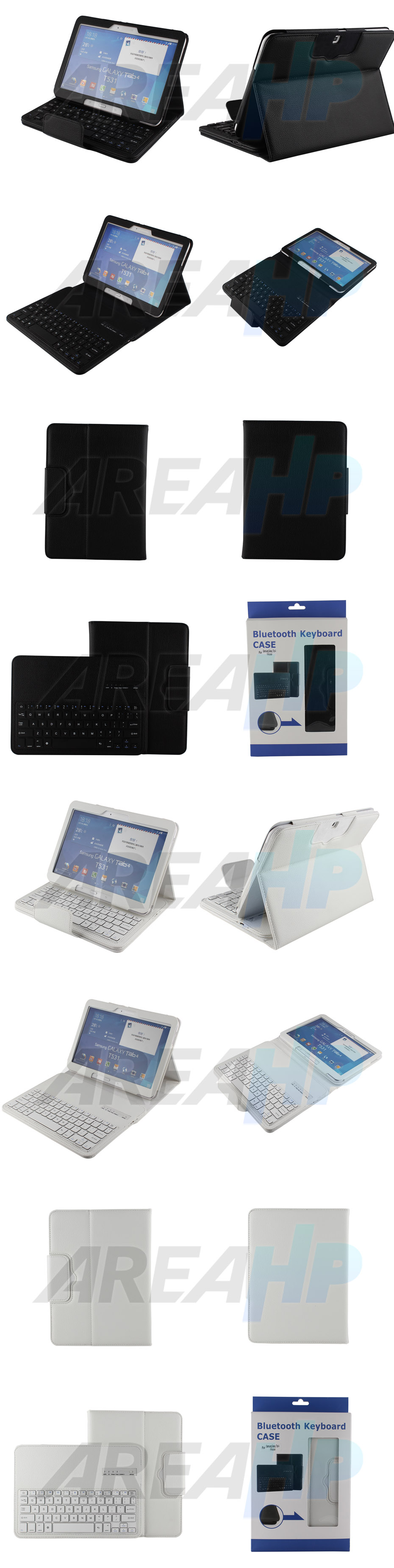 Removable Keyboard Leather Case for Samsung Galaxy Tab4 10.1 Overview