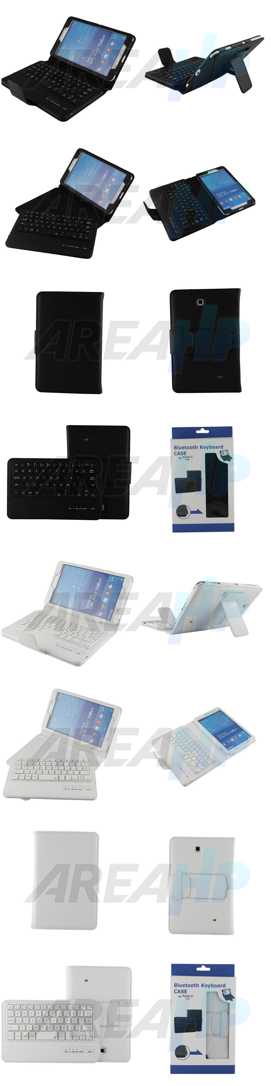 Removable Keyboard Leather Case for Samsung Galaxy Tab4 8.0 Overview
