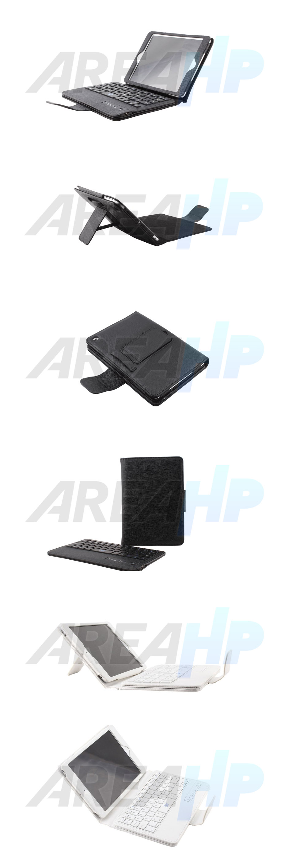 Removable Keyboard Leather Case for iPad Mini 1, 2, 3 Overview