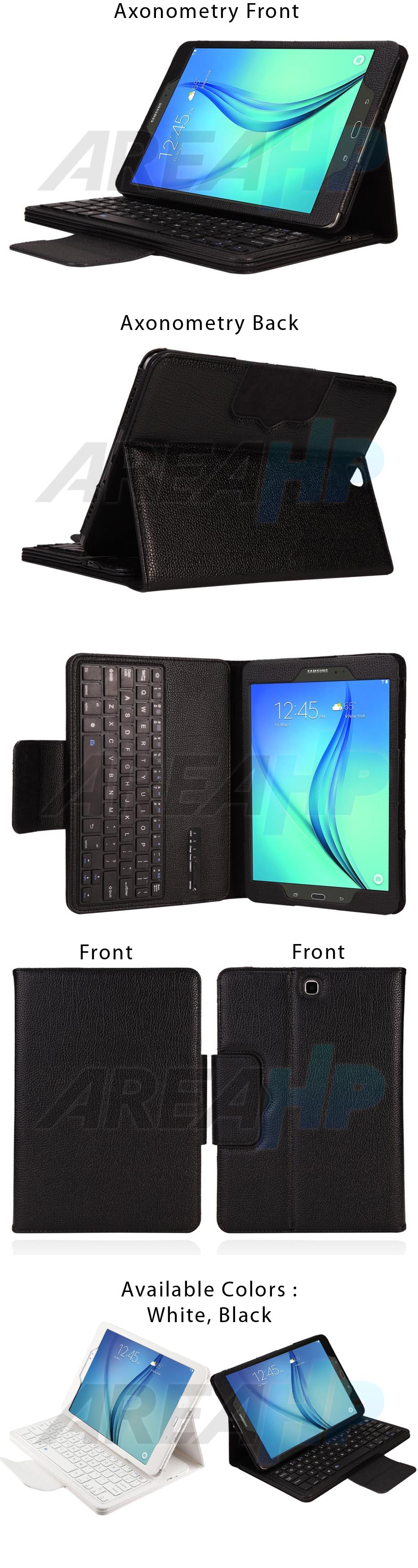 Removable Keyboard Leather Case for Samsung Galaxy Tab A 8