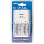 Sanyo Charger Quick 2Hr + 4Eneloop (Wall Plug In) + Case