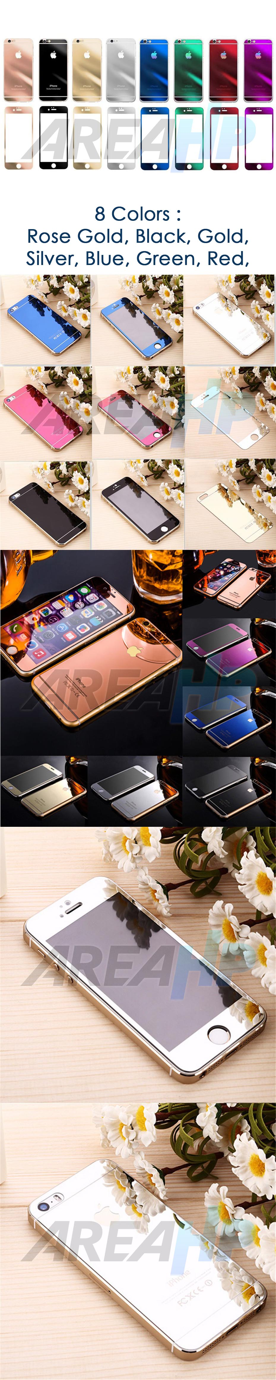 Tempered Glass iPhone Front,Back  3D Mirror Overview