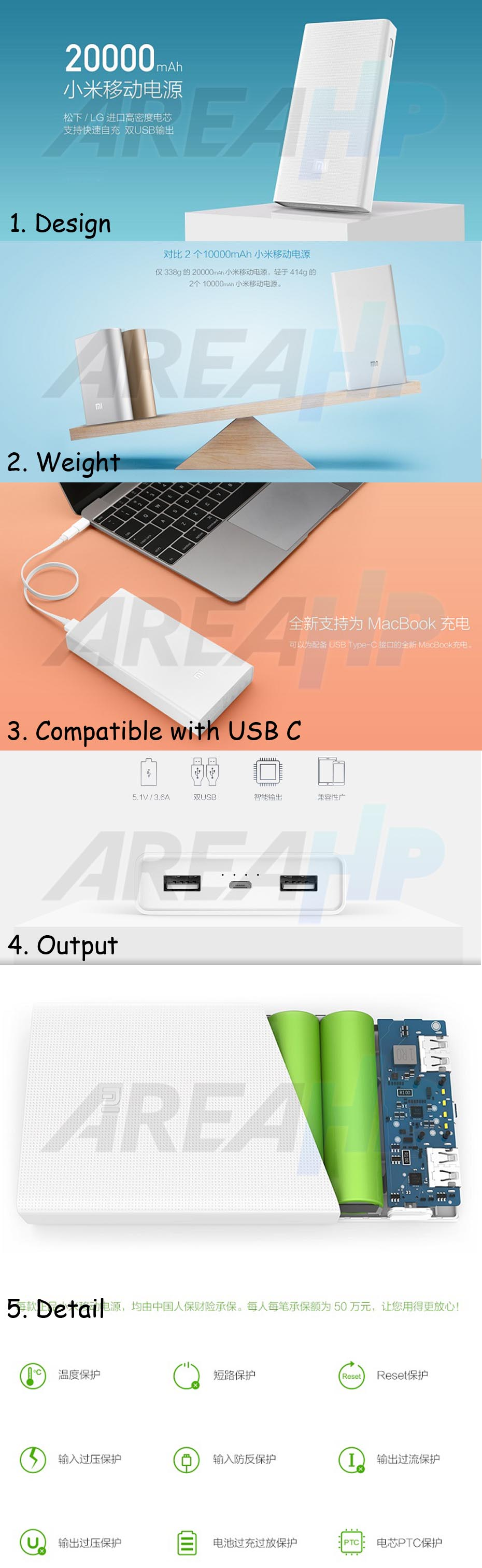 Powerbank Xiaomi 20000mAh (Original)Overview
