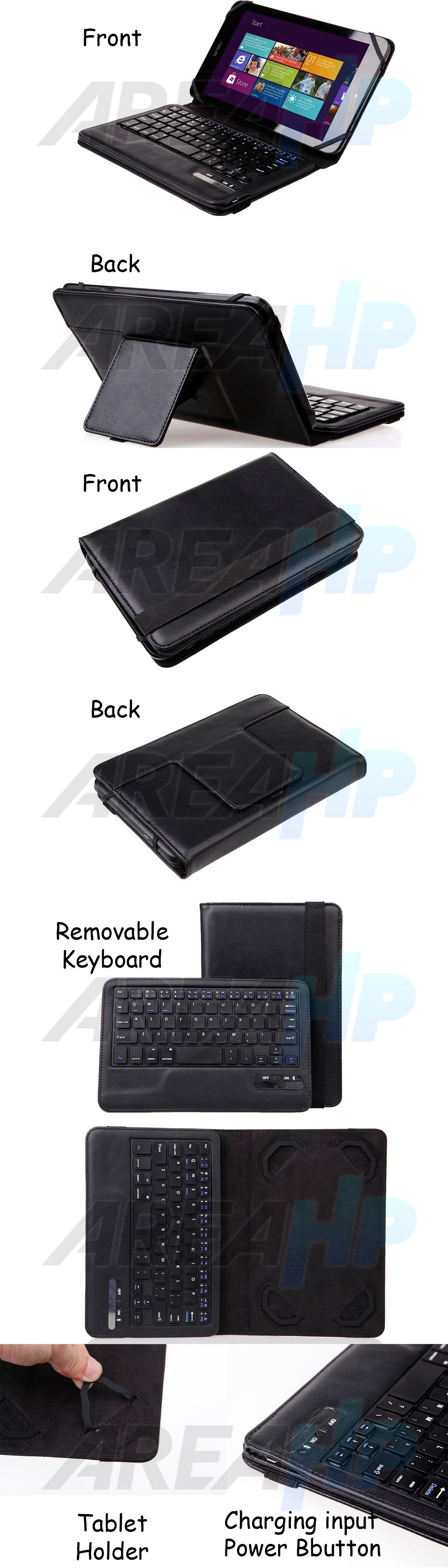 Seenda Universal Keyboard Bluetooth Case for Tablet 9-10 Inch Overview