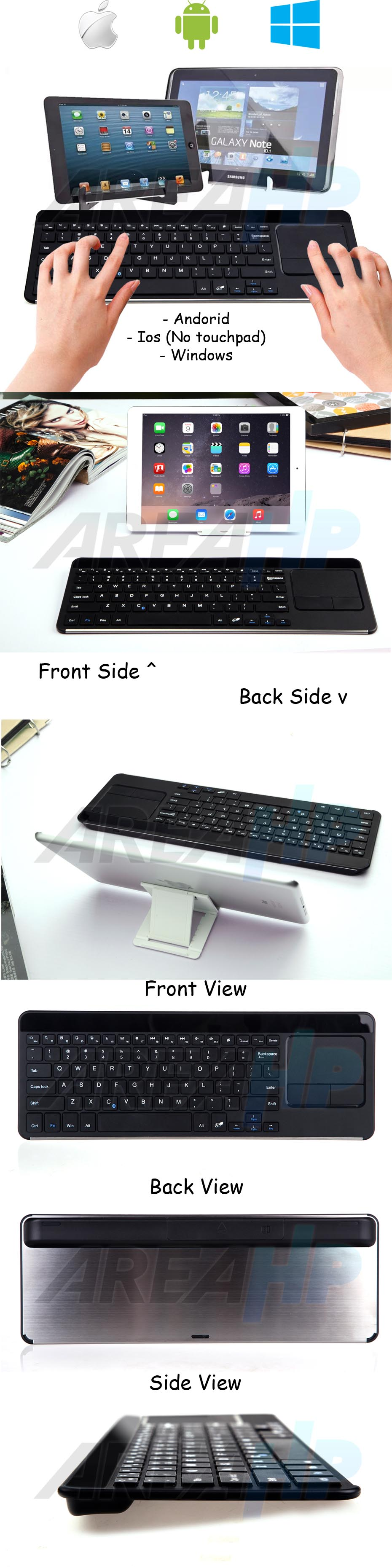 Universal Bluetooth Touchpad Keyboard for All Tablet IOS, Android, Windows Overview Overview