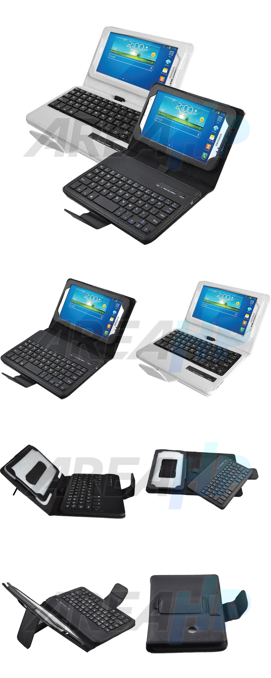Removable Keyboard Leather Case for Samsung Galaxy Tab3 7.0 V Overview