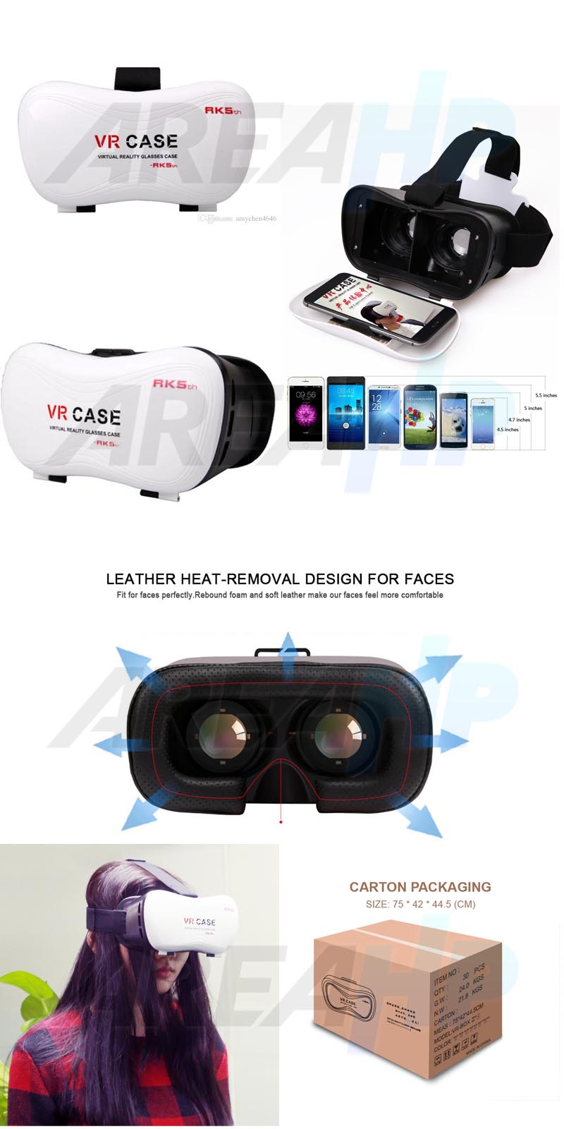VR Box Case Glass Virtual Reality 3D Version RK 5 Overview