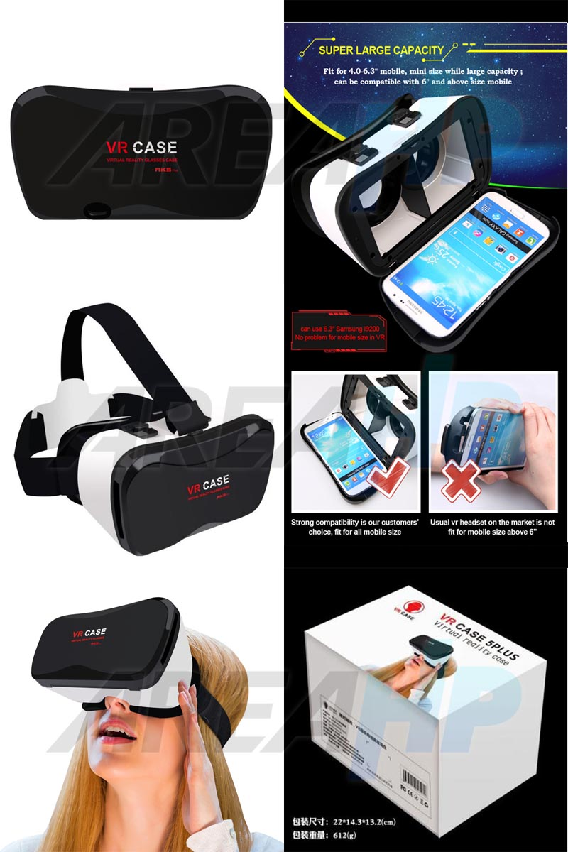 VR Box Case Glass Virtual Reality 3D Version RK 5 Plus + Overview