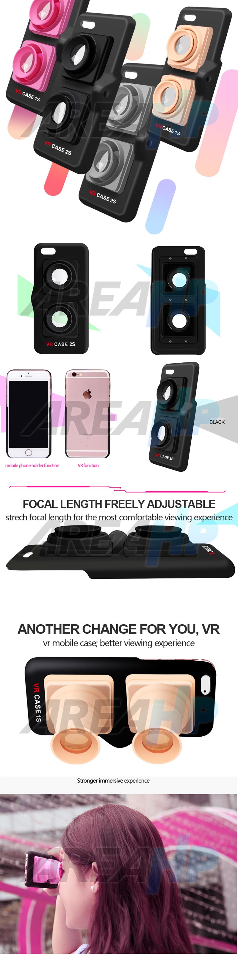 VR Box Case Glass Virtual Reality 3D for iPhone 6 6S VC1S Overview