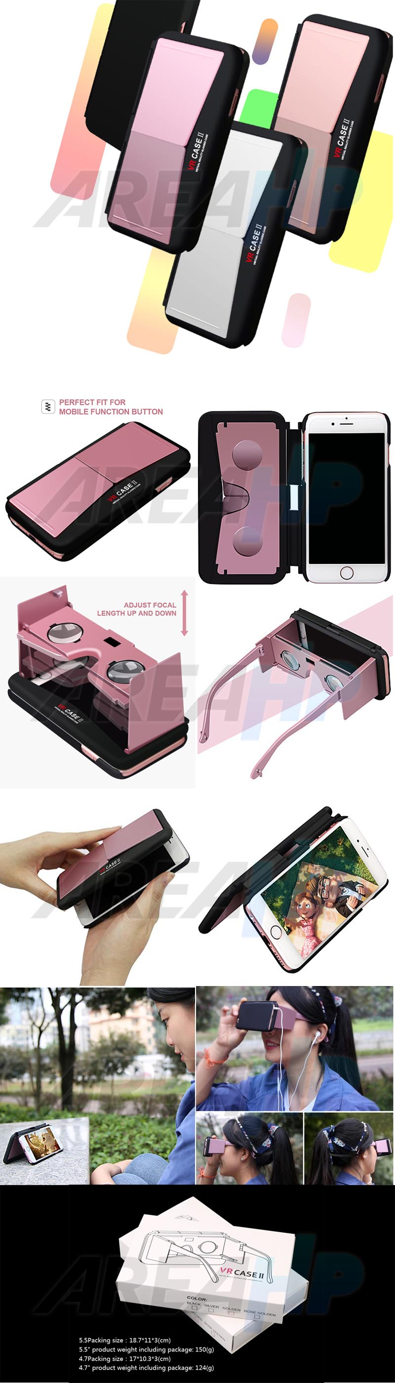 VR Box Case Glass Virtual Reality 3D for iPhone 6 6S VC2 Overview
