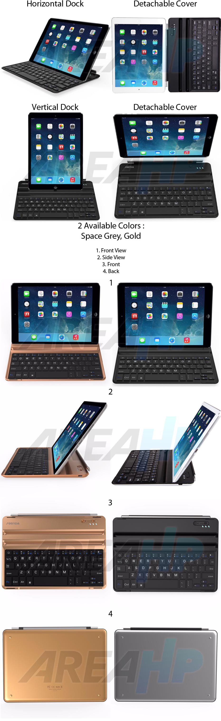 Seenda Ultra Slim Keyboard Cover for iPad Air, Air 2, Pro 9.7 IBK-07 Overview