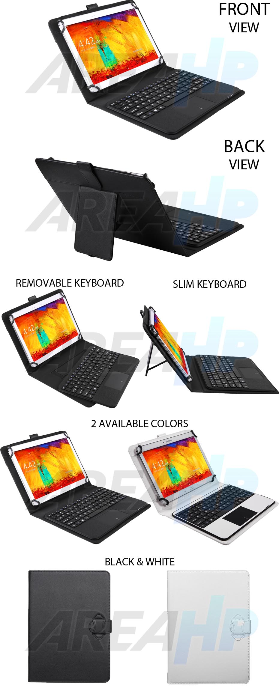 Seenda Universal Keyboard Bluetooth Touchpad Case for Tablet 9-10 Inch Overview