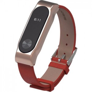 Xiaomi Band 2 Strap Clasic Buckle Leather Red