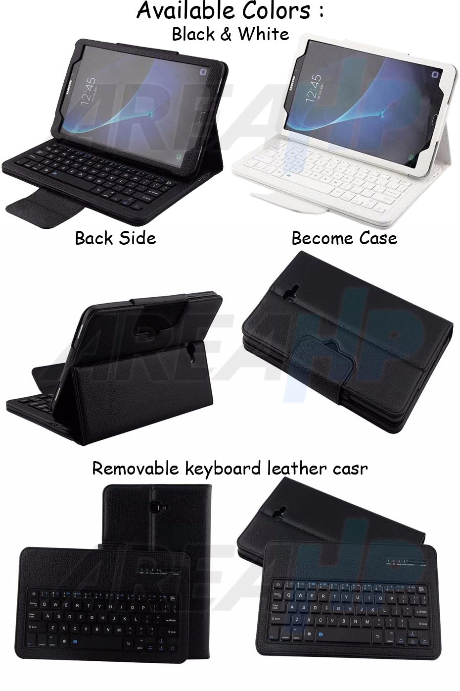 Removable Keyboard Leather Case for Samsung Galaxy Tab A 10