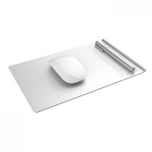 Seenda Aluminum Mouse Pad with Non Slip Rubber and Leather Surface
